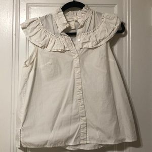 H&M White Colonial Top